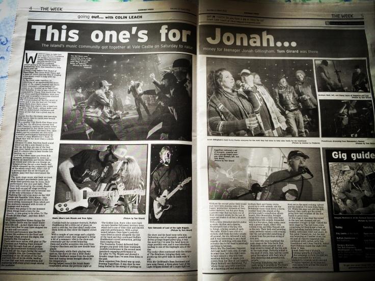 Jonah Beats review - Guernsey Press 12/03/16