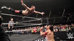 Zayn swan dives at Nakamura