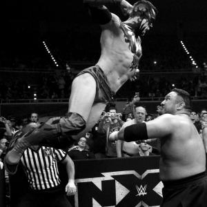 Finn Balor attacks Samoa Joe