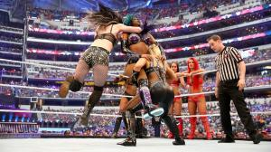 Natalya and Paige hit the Hart Attack