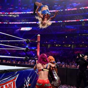 Charlotte goes for a moonsault