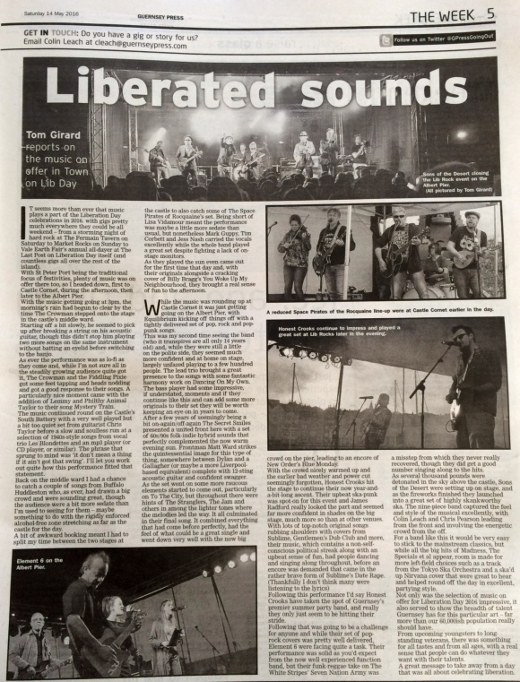 Liberation day music review scan - 14/05/16