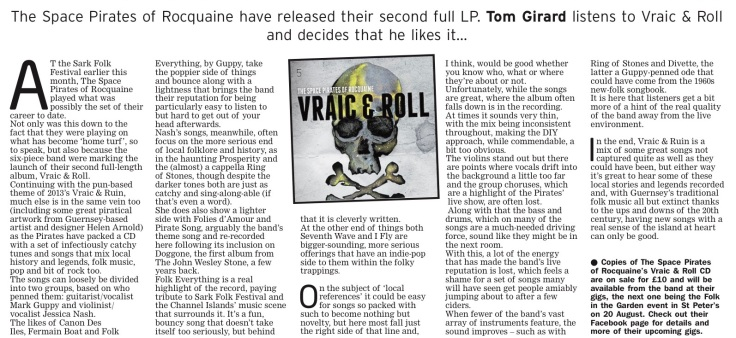 Space Pirates album review - 160716