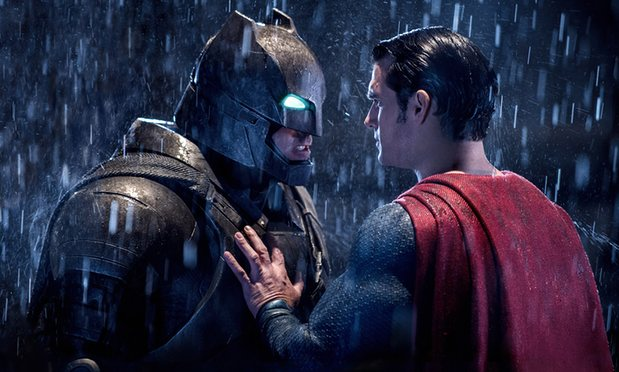 Batman (Affleck) and Superman (Cavill)