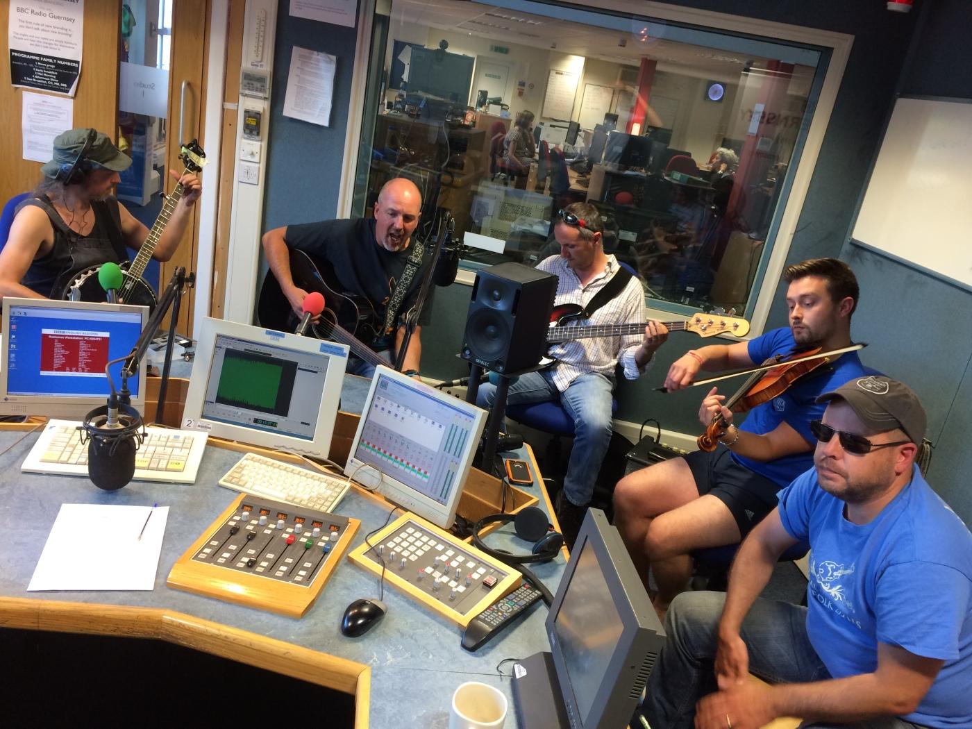 Clameur De Haro in the BBC Introducing Guernsey studio