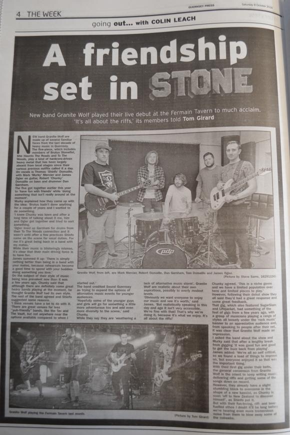 Granite Wolf interview scan - 08/10/16