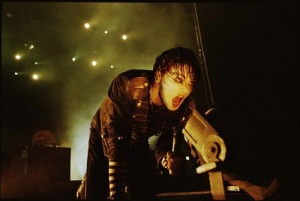 Gerard during The Black Parade is Dead concert film
