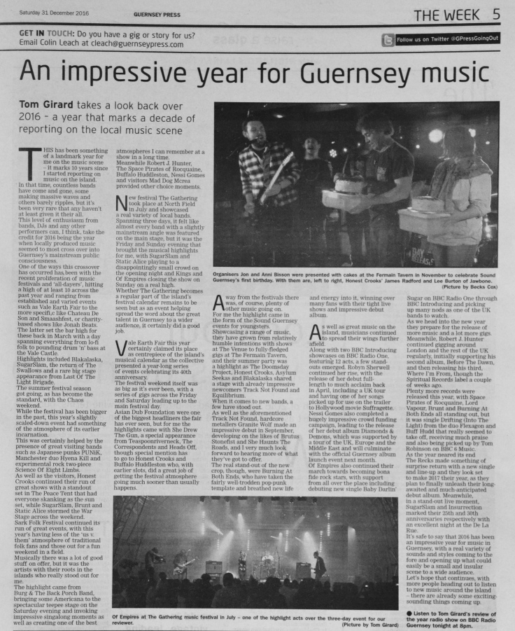Review of the Year 2016 press scan