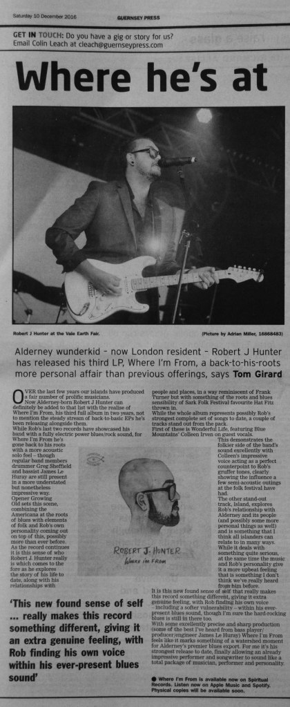 Robert J. Hunter - Where I'm From review scan