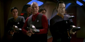 Picard, Data and some less fortunate crew members