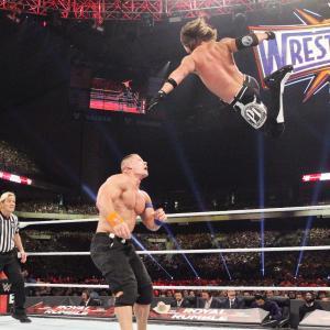Styles hits a Phenomenal Forearm on Cena