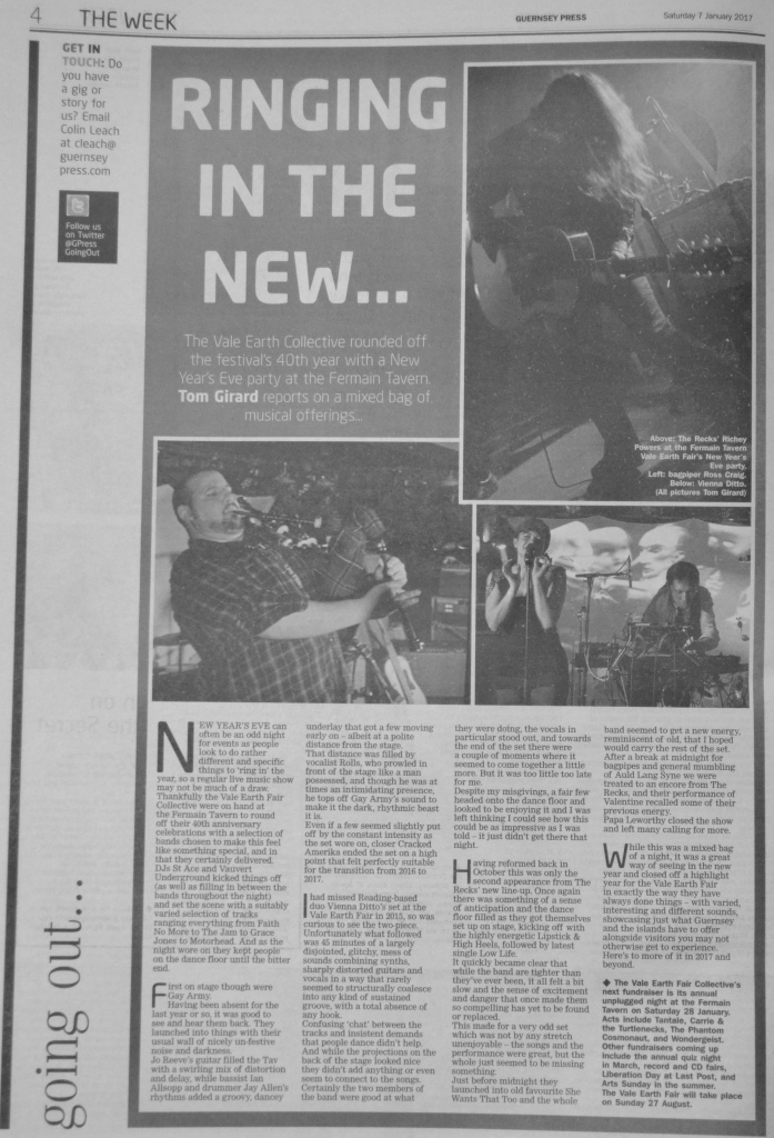 The Recks, Vienna Ditto and Gay Army review scan - 07/01/17