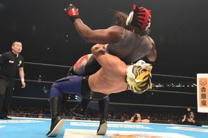 Tiger Mask W with a German Suplex