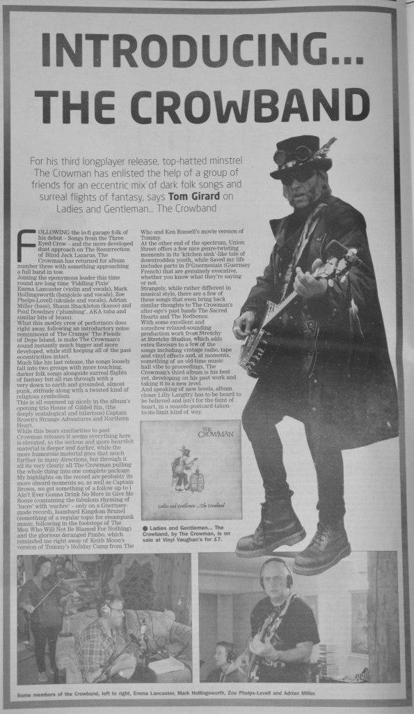Crowman album review 25/03/17