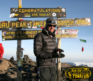 Slim Jim Phantom up Kilimanjaro