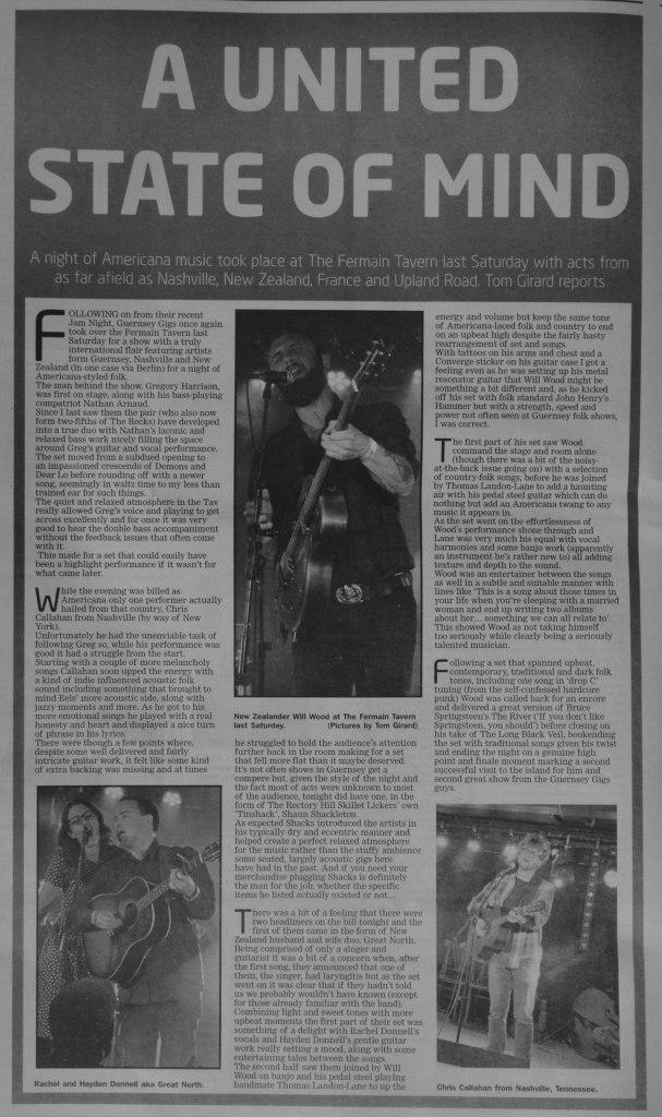 Folk Americana night review scan 01-04-17