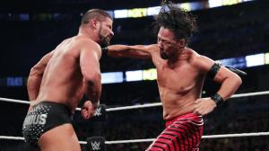 Shinsuke Nakamura hits a strong strike on Booby Roode