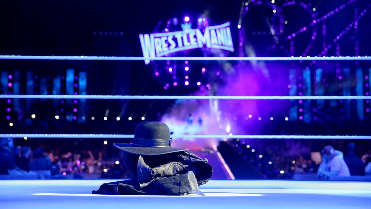 Undertaker's gear in the ring