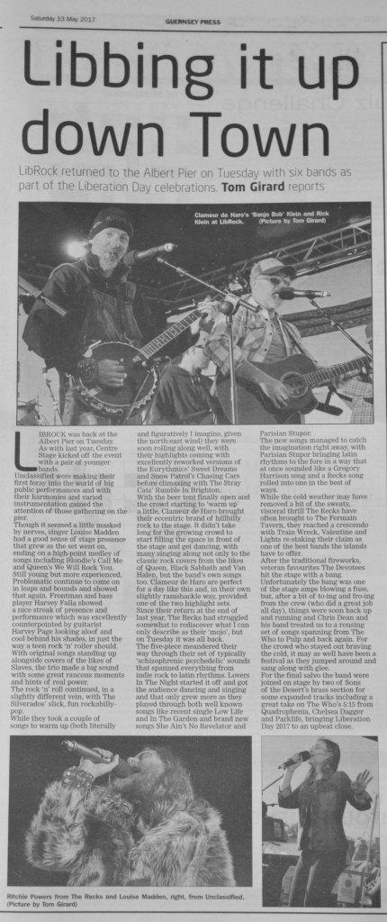 Liberation Day press cutting 13/05/17
