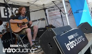 Buff Hudd on the BBC Introducing Guernsey stage