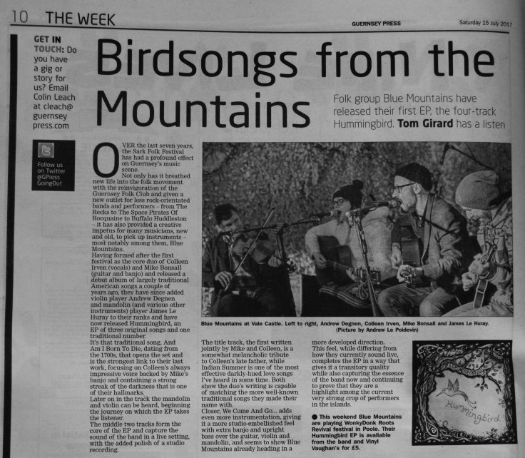 Blue Mountains - Hummingbird review scan - 15/07/17