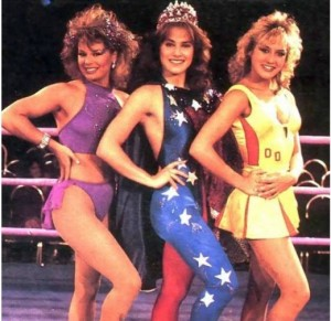 GLOW girls - Moretti on the right