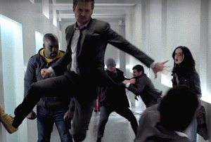 The Defenders in action