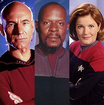 The Captains - Star Trek The Next Generation, Deep Space Nine and Voyager