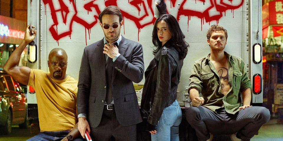 The Defenders - Luke Cage, Daredevil, Jessica Jones and Iron Fist