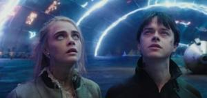 Dane DeHaan and Cara Delevingne in Valerian