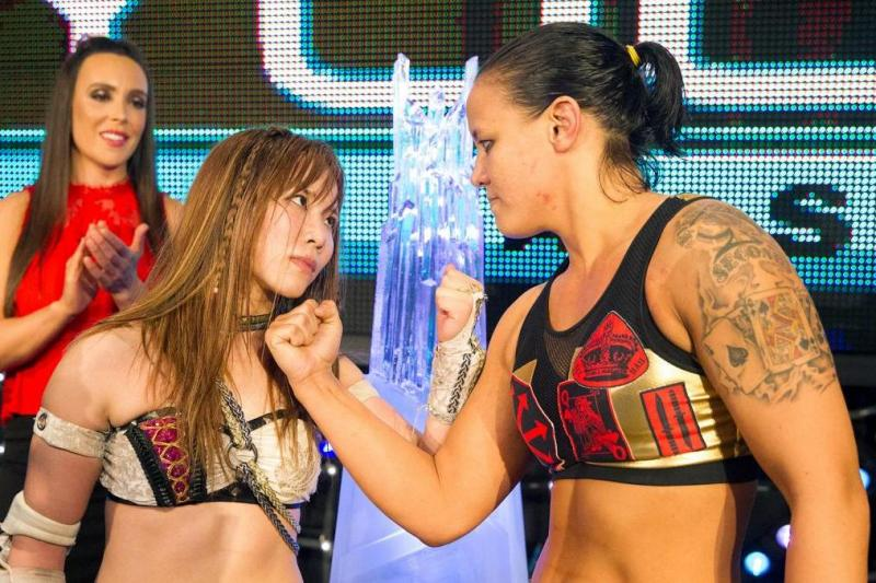 Mae Young classic finalists Kairi Sane and Shayna Baszler