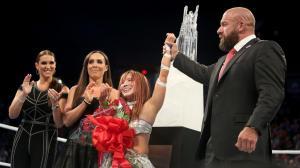 Stephanie McMahon, Sara Amato, Kairi Sane and Triple H