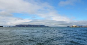 Golden Gate Bridge to Alcatraz island