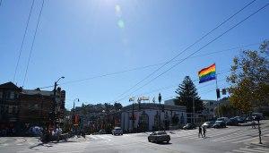 Pride flags at Castro