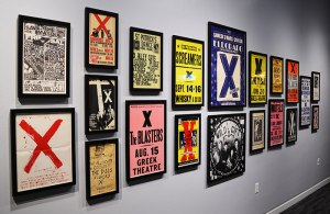 X posters at the Grammy Museum