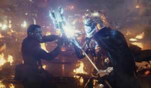 The Last Jedi - John Boyega as Finn and Gwendoline Christie as Captain Phasma