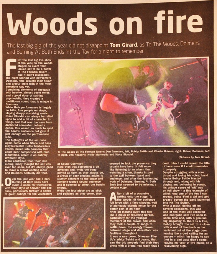 To The Woods, Burning At Both Ends and Dolmens review 06/01/18