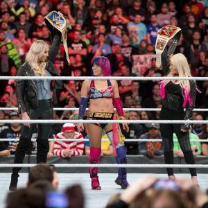 Charlotte Flair, Asuka and Alexa Bliss