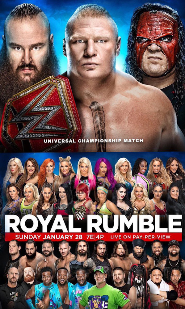 WWE Royal Rumble 2018 Poster