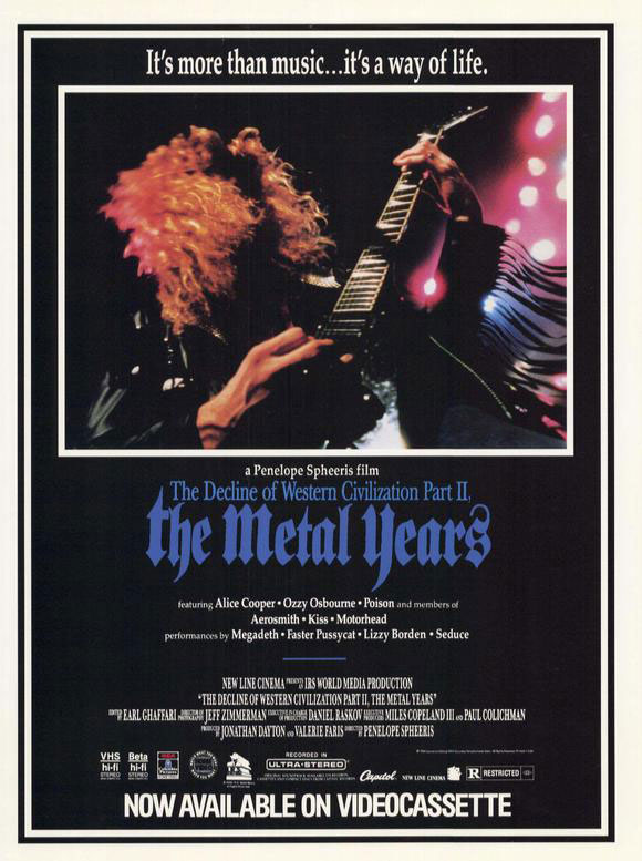 The Decline of Western Civilization Part 2 - The Metal Years poster