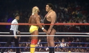 Hulk Hogan and Andre The Giant - WrestleMania 3