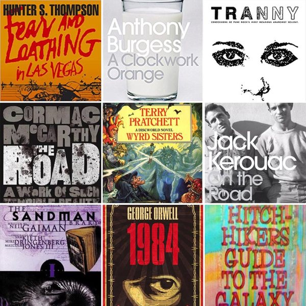 Books montage