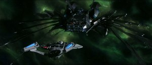 USS Enterprise and Romulan Scimitar