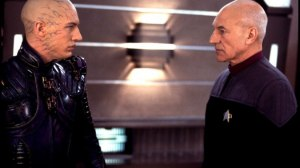 Star Trek: Nemesis - Tom Hardy and Patrick Stewart