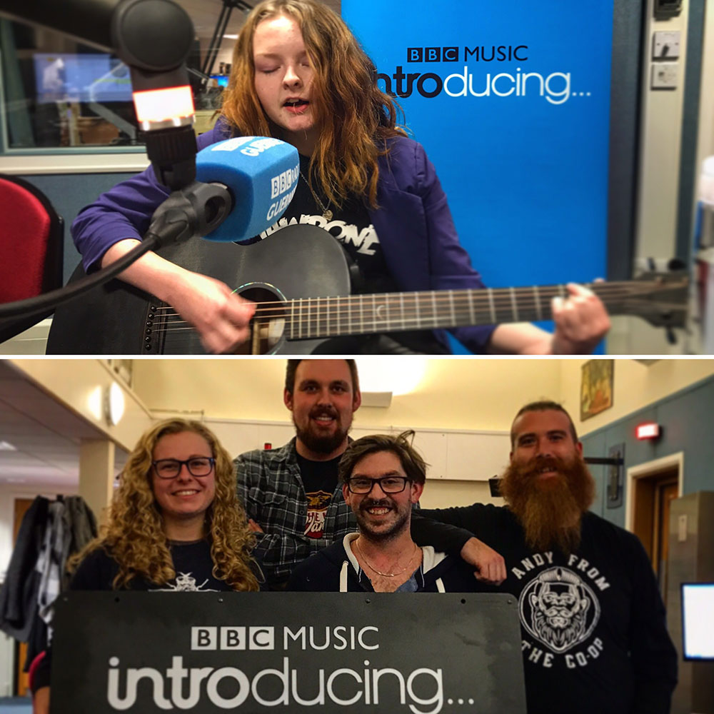 Kiya Ashton and The Honest Crooks on BBC Introducing in Guernsey