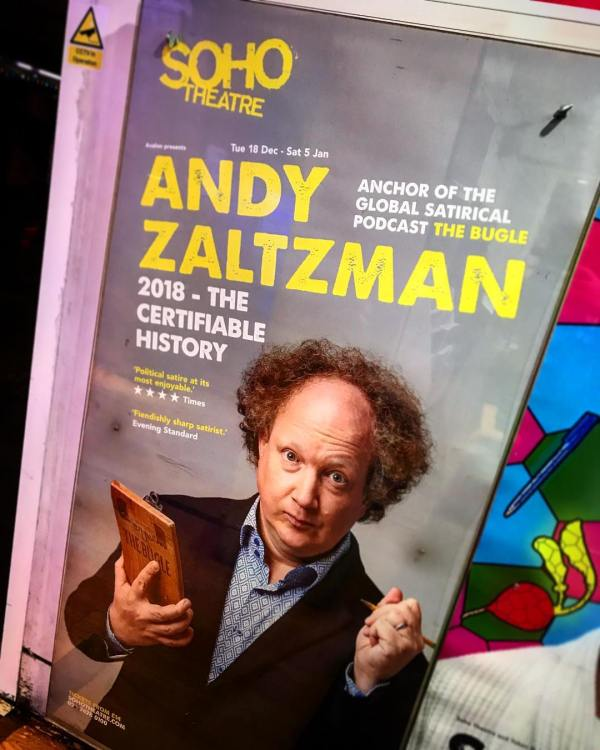 Andy Zaltzman - 2018 The Certifiable History poster