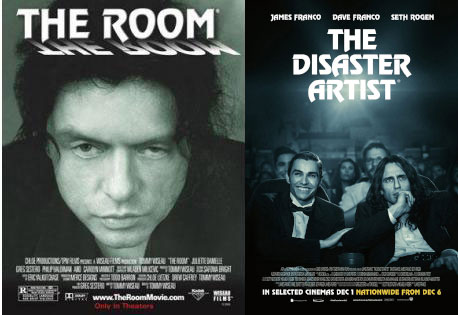 The Room and The Disaster Artist posters