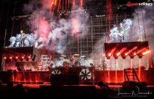 Rammstein on stage