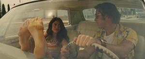 Once Upon Time In Hollywood - Margaret Qualley and Brad Pitt