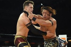 Ishimori hits Eagles with a forearm